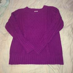 Old Navy Jewel Tone Sweater! This is a stunning NWOT jewel tone sweater from old navy! The color makes it one of the most unique sweaters I've ever owned! Women's size Medium. 60% cotton, 40% acrylic. Please let me know if you have any questions! The first picture was taken with the flash on, the rest were not! Old Navy Sweaters Crew & Scoop Necks