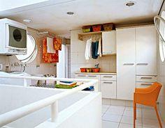 Nesta lavanderia tudo é prático - Casa