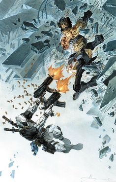 Wolverine vs Deadpool - Anthony Jean
