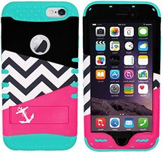 """myLife Stylish Design and Layered Protection Case for iPhone 6 Plus (5.5"""" Inch) by Apple {Turquoise + Luxurious Pink""""Chevron Anchor Hybrid with Kickstand"""" Three Piece SECURE-Fit Rubberized Gel} myLife Brand Products http://www.amazon.com/dp/B00PBGMEDY/ref=cm_sw_r_pi_dp_I85yub0NE5VJ9"""