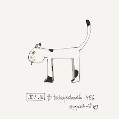 Interesting one by pepsschmitt #madewithpaper #enclavedepod (o) http://ift.tt/1qk5MgL 486 #doodleaday  #cat