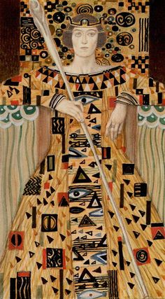 Golden Klimt- King of Wands
