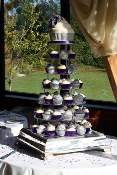 Purple Calla Lily Cupcake Tower by ConsumedbyCake, via Flickr