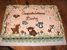 forest friends baby shower cake   Baby Shower Cakes by Casey's Cakes