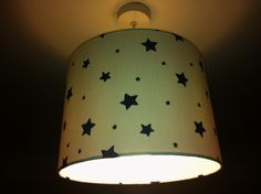 Lamp shade 30cm in Blue Star pattern UK ceiling fitting £25.00