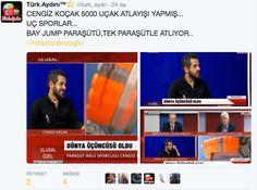 Türk Aydını™⭐️ @turk_aydn  24 sa.24 saat önce CENGİZ KOÇAK 5000 UÇAK ATLAYIŞI YAPMIŞ... UÇ SPORLAR... BAY JUMP PARAŞÜTÜ,TEK PARAŞÜTLE ATLIYOR.. @mhulkicevizoglu