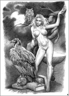 Comics Vintage, Art Costume, Fantasy Art, Fairy Tales, Weird, Statue, Drawings, Painting, Paintings