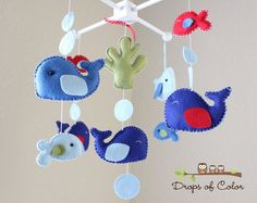 baby crib mobile with theme doll sea