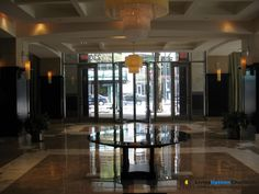 Inside lobby looking at Tryon