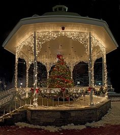 Christmas Gazebo / Christmas Lights / Check out more from Charter Arms on Pinterest or visit our web-sight at  CharterFireArms.Com