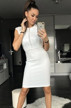 EMAMODA dress- WHITE 42007-4