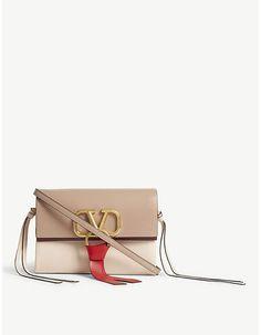 Valentino 'V' ring leather mini cross-body bag Classic Handbags, Cute Handbags, Cheap Handbags, Purses And Handbags, Cheap Purses, Cute Purses, Pink Purses, Handbag Storage, Tote Storage