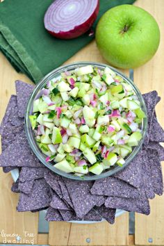 Fresh Green Apple Salsa - yum!!  via lemontreedwelling.com