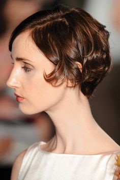 Pin curls lend a chic edge to shorter lengths.