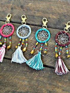 Artisan Crafted Bead Dreamcatcher Keychain-GoGetGlam