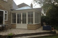 Small conservatory House Exterior, New Homes, Conservatory Roof, Conservatory Extension, Atrium House, Small Conservatory, Timber House, Sunroom Designs, Roof Design