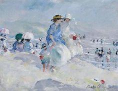 Martha Walter (American Impressionist, 1875–1976) Leaving the Beach