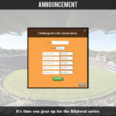 Bored of No matches in the season break? Start a rivalry with your friend! #Bilateralseries is back!  You can now set up your Bilateral series matches with your friend for the upcoming season break! :D  Bilateral Series is available only for our Musketeer users!  Hurry up and follow the link below: http://hitwicket.com/musketeerIntro/bilateralSeries?referral=fbp #cricketgame #t20cricket #t20game #androidgame