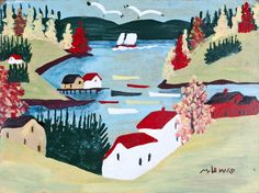 Maud Lewis, 'Ben Loman Harbour' at Mayberry Fine Art