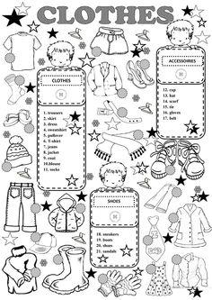 CLOTHES worksheet - Free ESL printable worksheets made by teachers