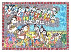 Ram Setu, Asking For Forgiveness, Madhubani Painting, Online Painting, Lord Shiva, The Rock, Artwork Prints, Original Artwork, Folk
