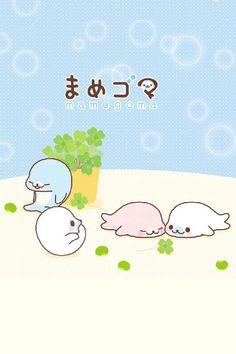 cute kawaii background mamegoma background desktop