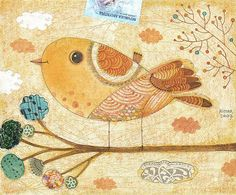 #bird mixed media... by Gustavo Aimar