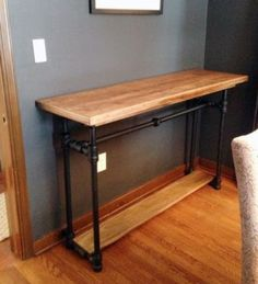 ideas for kitchen industrial diy pipe table Furniture Projects, Home Projects, Furniture Redo, Urban Furniture, Metal Furniture, Plumbing Pipe Furniture, Victorian Furniture, Farmhouse Furniture, Cabinet Furniture