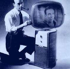 One of the first revolutionary Philco Predicta televisions, released in 1958, where designers threw out the idea of a simple tube in a box and made it free-standing.