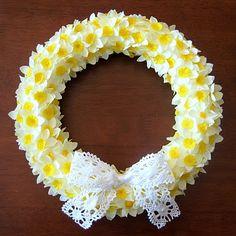 daffodil wreath FAIL...
