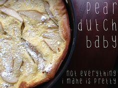 Pear Dutch Baby - The Breakfast Hub