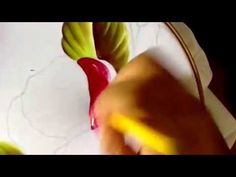 Pintura en tela flor amapolas con cony