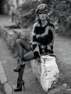 Kate Publication: Dazed Magazine Winter 2016 Model: Kate Moss Photographer: Ethan James Green Fashion Editor: Alister Mackie Hair: Malcolm Edwards Make Up: Miranda Joyce Nails: Marian Newman