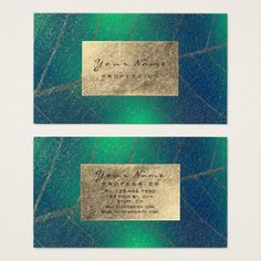 Tropic Gold Foil Botanical Herbs Nature Theripst Business Card -nature diy customize sprecial design