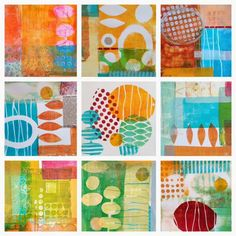 collage journeys: Monoprint Collage At Pacific Northwest Art School
