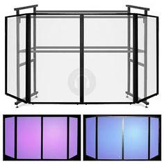 Portable DJ Booth | Ekho 4-Panel Mobile DJ Disco Booth Facade Screen - 4 Ft Pro Steel Rig ...