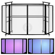 Portable DJ Booth | Ekho 4-Panel Mobile DJ Disco Booth Facade Screen - 4 Ft Pro Steel Rig ...