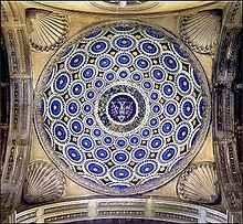 Pazzi Chapel dome in the porch plans were designed by Brunelleschi. Santa Croce. Florence, Italy. Built in 1441.