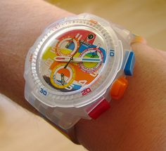 Swatch watch! Gotta find this for my punkin'.