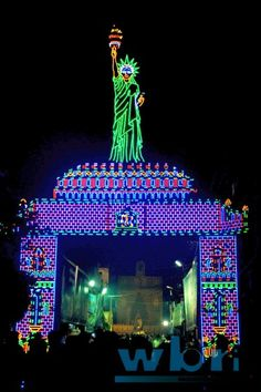 Indian Festival Jagadhatri Pujo Chandannagar Durga Puja Lighting Idol Pandal