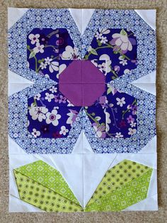 Swedish Bloom-Time Lap Quilt block. | Flickr - Photo Sharing!