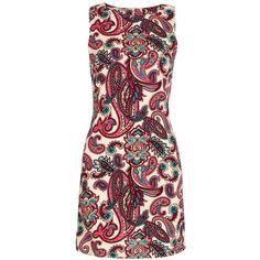 Yoins Retro Style Cashew Print Slim Dress  S/M/L ($13) ❤ liked on Polyvore featuring dresses, yoins, vestidos, black, retro dresses, floral pattern dress, short floral dresses, floral print dress and short black dresses