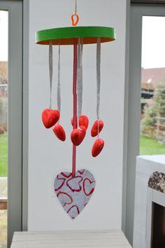 knutselen kleuter/ mobiel / Valentijn