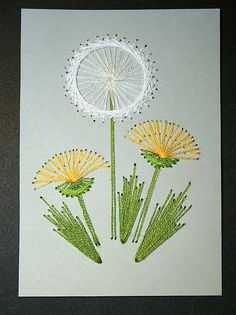 Dandelions Sitching Card