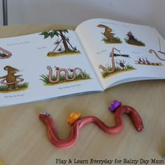 Superworm by Julia Donaldson, fun preschool play activities for learning and fun bringing this favourite children's storybook to life Spring Activities, Toddler Activities, Learning Activities, Nursery Activities, Playdough Activities, Julia Donaldson Books, Story Sack, Messy Play, Kids Story Books