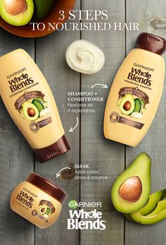 Want to rejuvenate dry locks? Then Find Your Blend. Garnier Whole Blends Nourishing Haircare is paraben-free and has Avocado Oil & Shea Butter extracts to replenish, moisturize and add shine. And for hair that needs extra care, the Nourishing Mask deeply Natural Hair Growth, Natural Hair Styles, Natural Beauty, Nourishing Shampoo, Piel Natural, Trending Haircuts, Hair Remedies, Shiny Hair, Hair Health