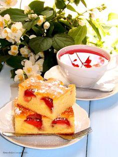 Pyszne ciasto z fantą i truskawkami. | Gotuj i piecz z Joanną, Sama słodycz i szczypta chili.