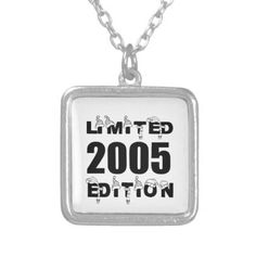 LIMITED 2005 EDITION BIRTHDAY DESIGNS SILVER PLATED NECKLACE - accessories accessory gift idea stylish unique custom