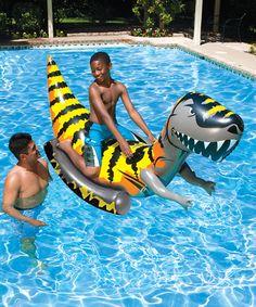 Look what I found on #zulily! T-Rex Rider by Poolmaster #zulilyfinds