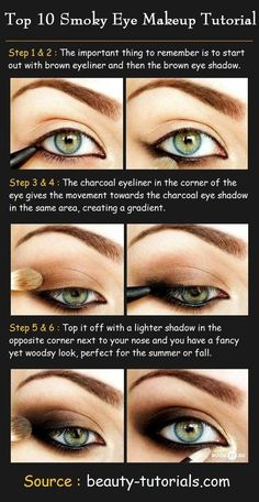 How To Make Pretty Smokey Eyes Makeup Step By Step Diy Tutorial . How to make pretty smokey eyes makeup step by step DIY tutorial makeup diy tutorials - Makeup Diy Tutorials Eye Makeup Steps, Smokey Eye Makeup, Makeup Eyeshadow, Brown Eyeliner, Smokey Eyeshadow, Glitter Makeup, Smokey Eys, Alcone Makeup, Makeup Eraser